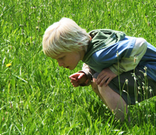 kid in field - Luton Park prairie