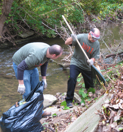 stream clean-up