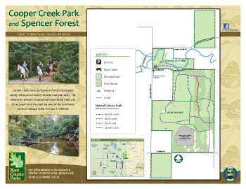 Cooper Creek Spencer Forest map
