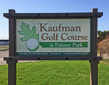 kaufman entry sign
