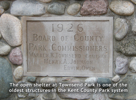 townsend open shelter plaque