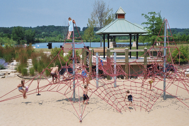 Playground in the beach area