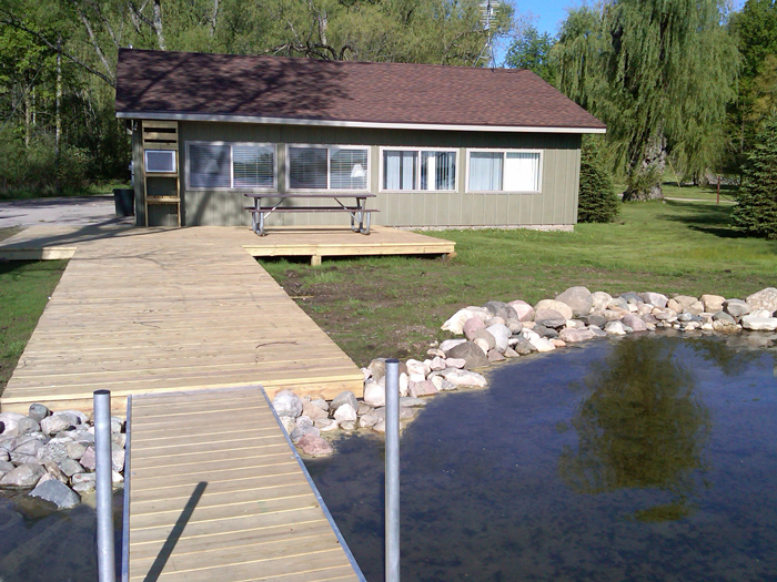 cottage from dock