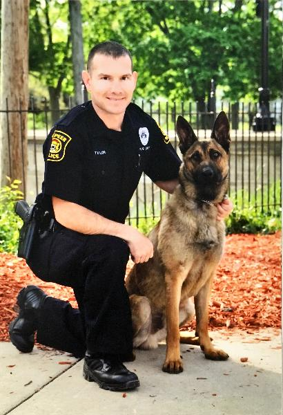 Officer Larry Taylor and K9 Bernie