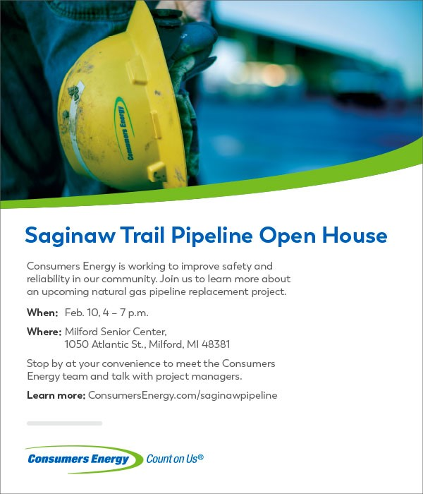 Saginaw Trail Pipeline February 10, 2020 Open House Promo