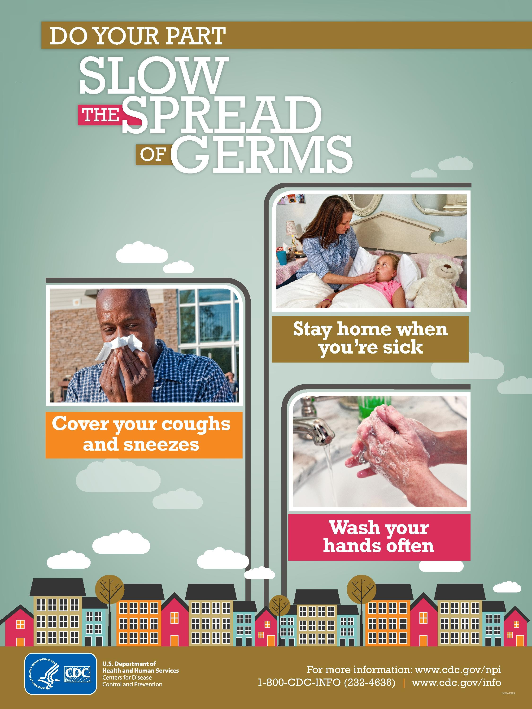 CDC Slow the Spread of Germs Graphic