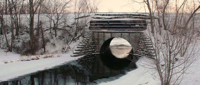 Huron River (Winter)