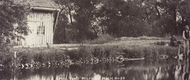 Historic Photograph of Mill Pond, Milford, Michigan