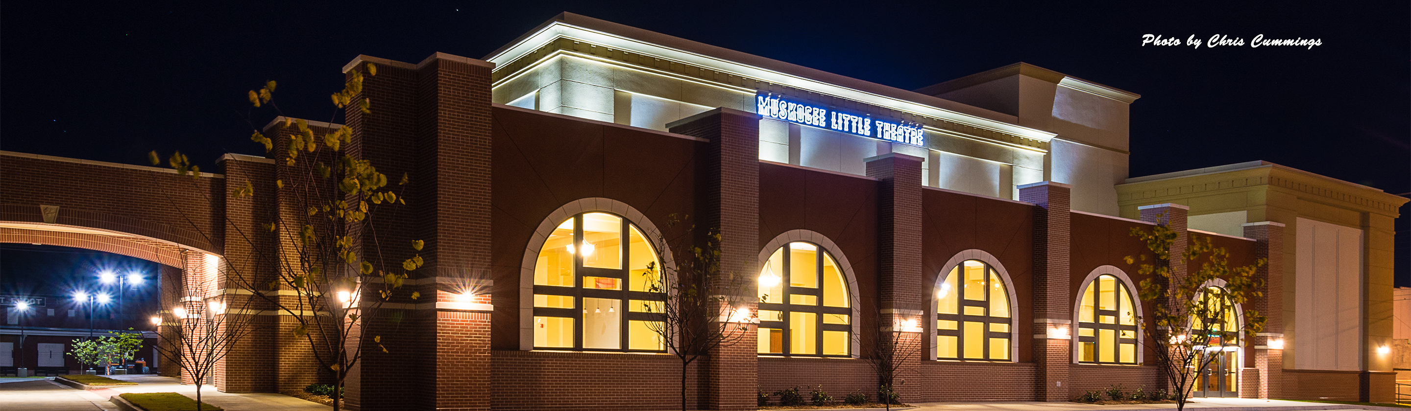 Muskogee Little Theater at Night 19x6