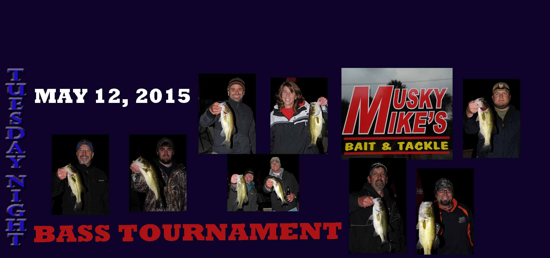 BASS TOURNAMENT may 12