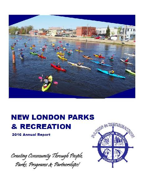 2016 Park and Rec Annual Report Picture