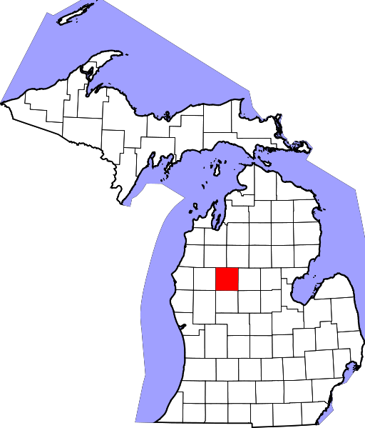 px Map of Michigan highlighting Osceola County svg