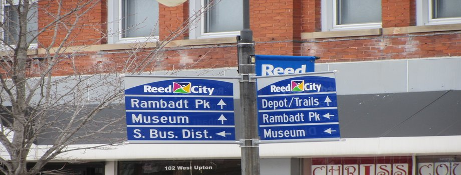 Reed City wayfinding signs
