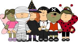 Kids in costume clipart