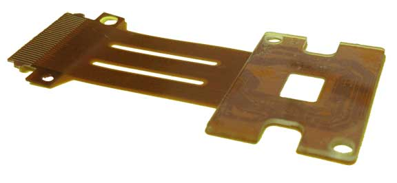 Flex Pcb With Flip Chip And Glass Stiffener