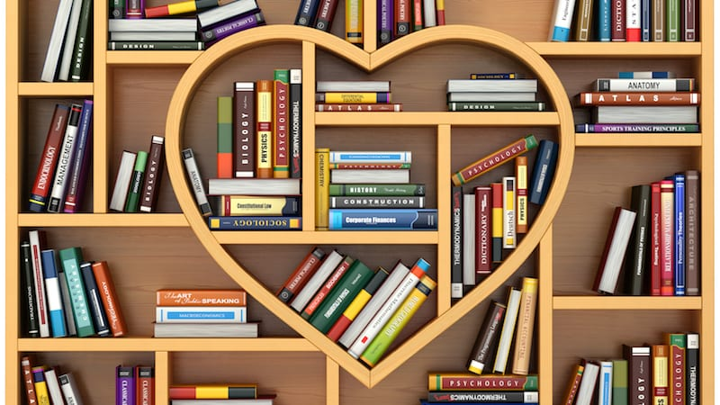 Book image with heart