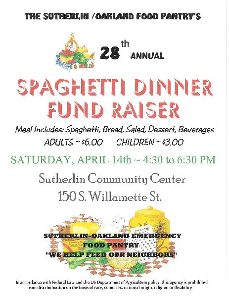 SPAGHETTI DINNER FUN RAISER 2018