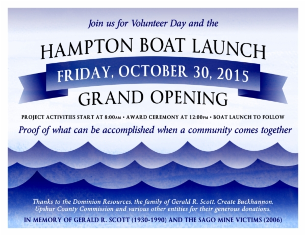 Hampton Boat Launch Invitation
