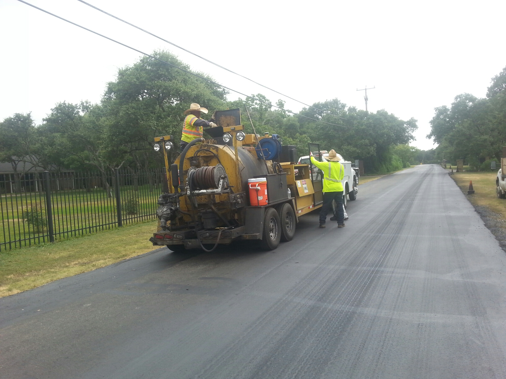 Public Works Crew doing Road Maintenance
