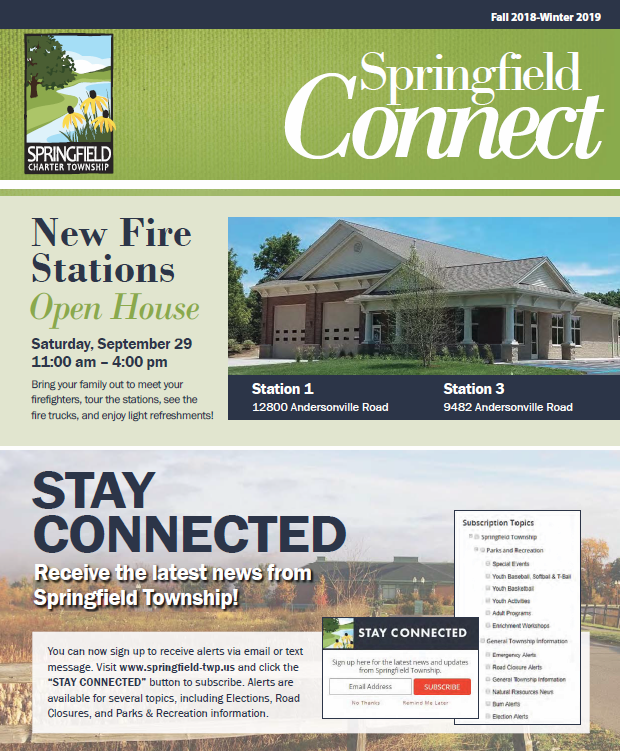 Springfield Connect Newsletter Fall 2018