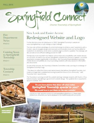 Springfield Connect Newsletter Fall 2015