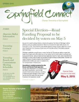 Springfield Connect Newsletter Spring 2015