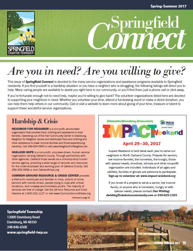 Springfield Connect Newsletter 2017