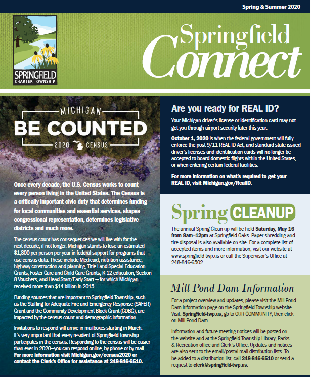 Springfield Connect Newsletter Spring 2020