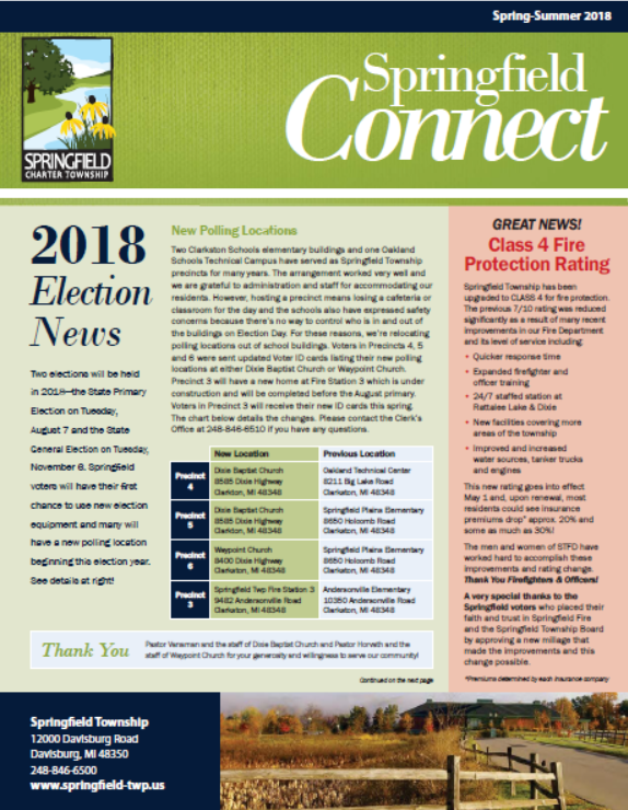 Springfield Connect Newsletter Spring 2018