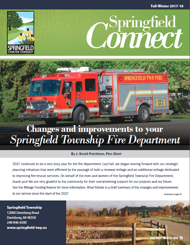 Springfield Connect Newsletter Fall 2017
