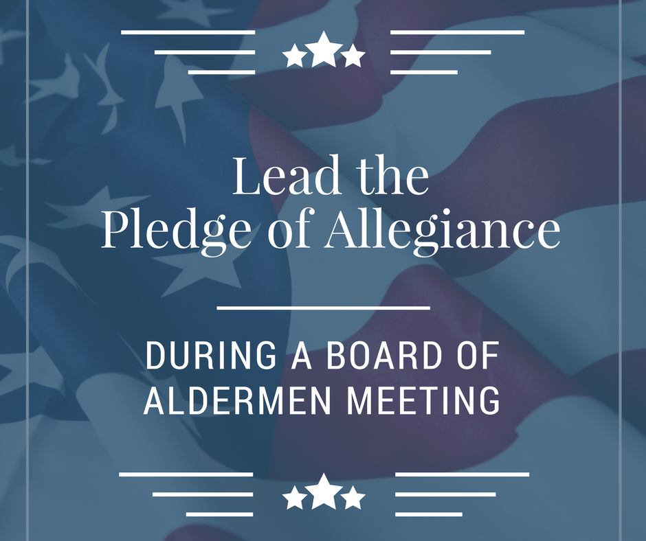 lead the pledge of allegiance