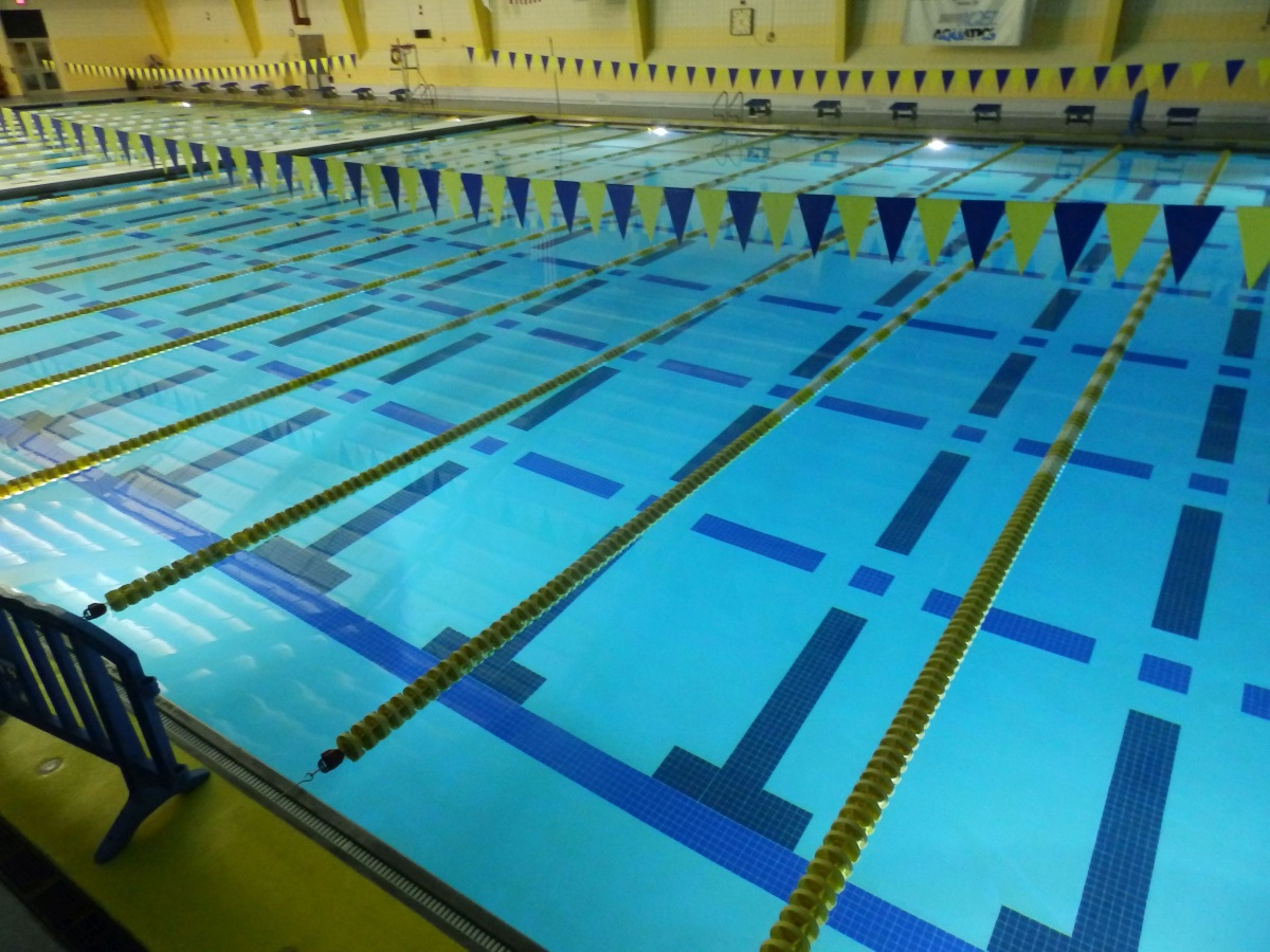 Blue waters of ISC pool