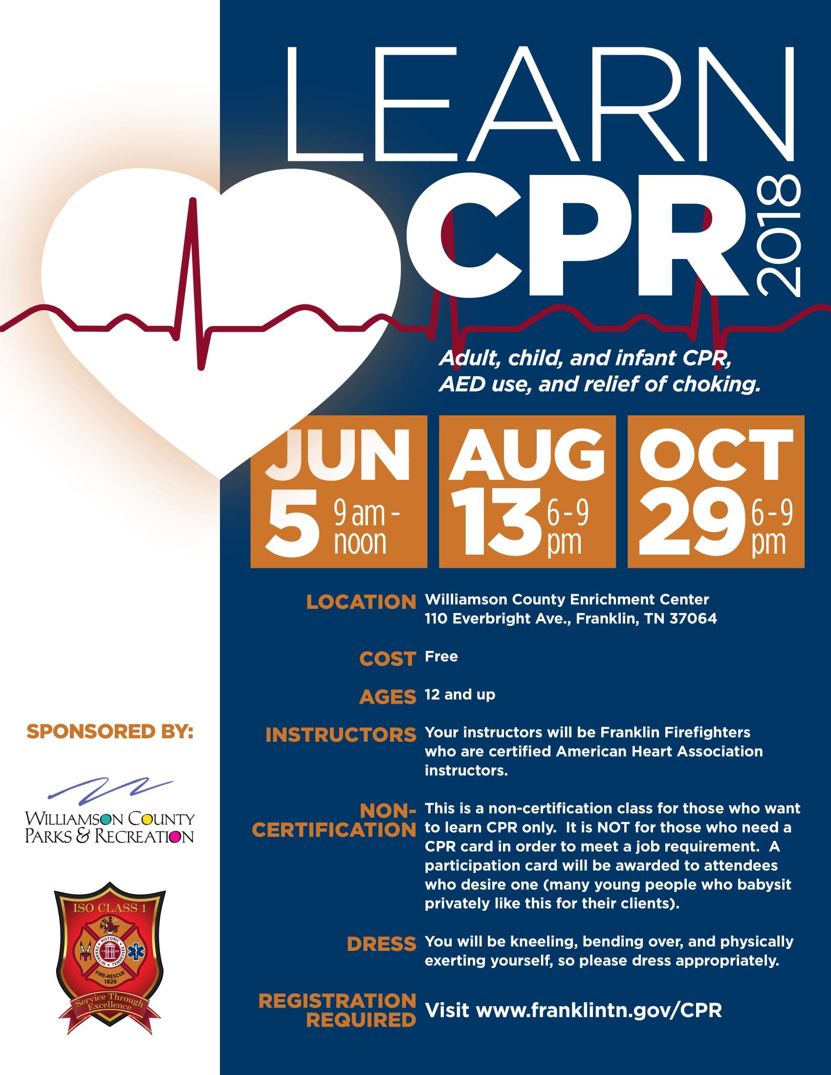 FFD CPR Class Flyer
