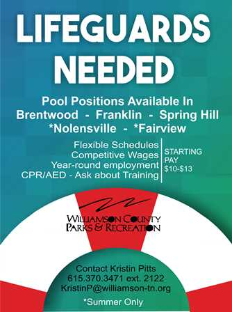 Lifeguards Needed  flyer with pay scale for web page