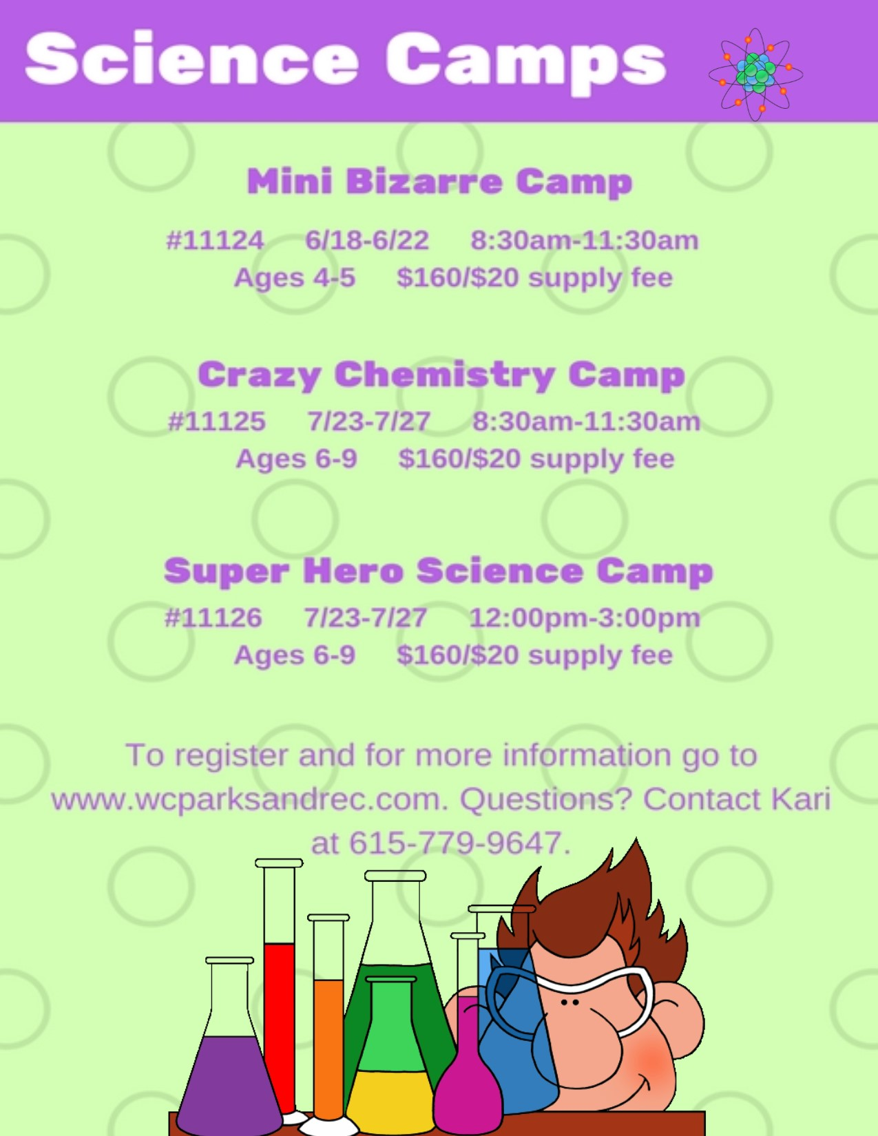 Mr  Bond Chemistry Camps