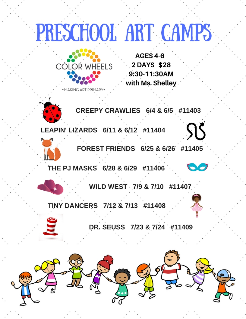 SUMMER PRESCHOOL ART CAMPS