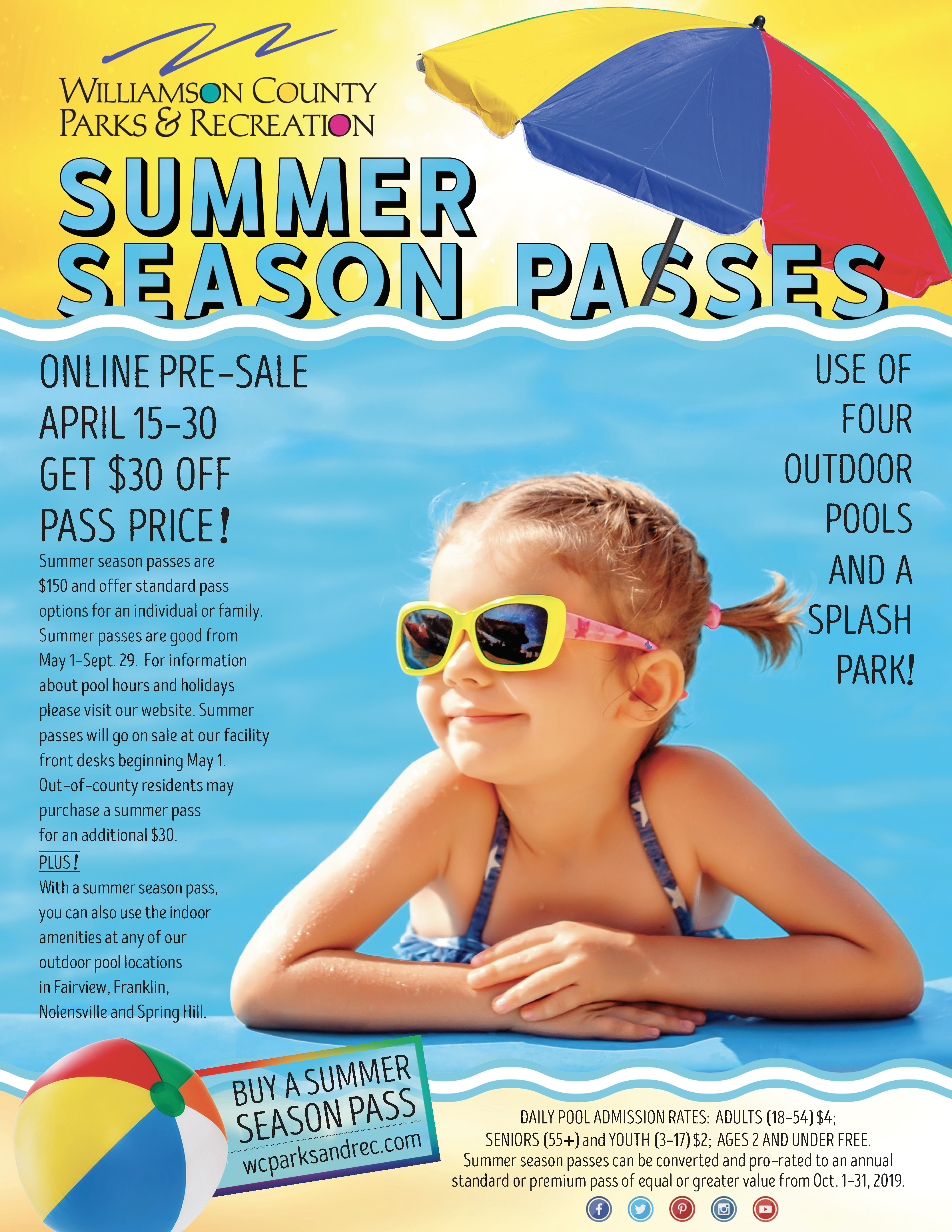 Summer Pass  Pool Flyers Page