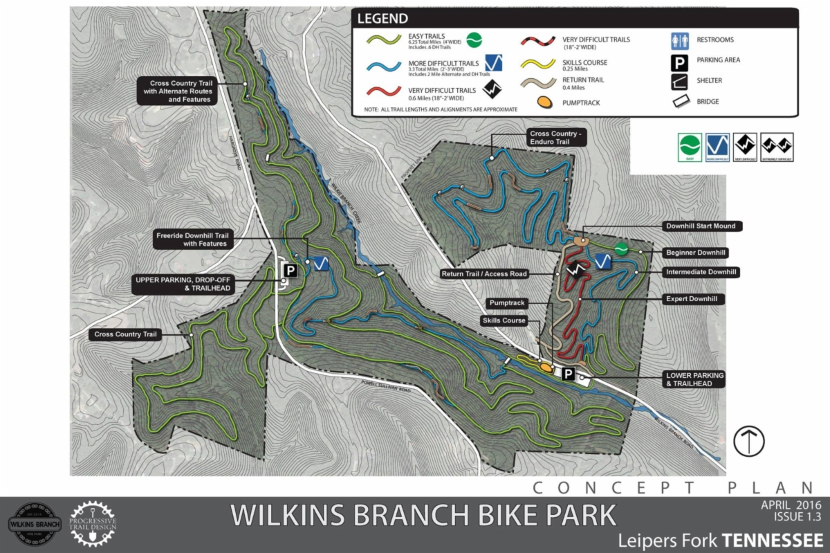 Wilkins Branch Trail Map