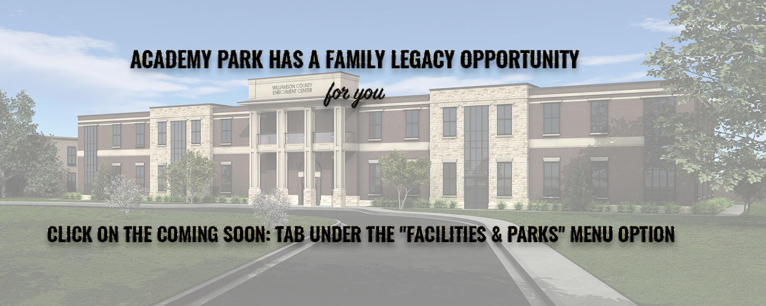 Academy Park Website Slide
