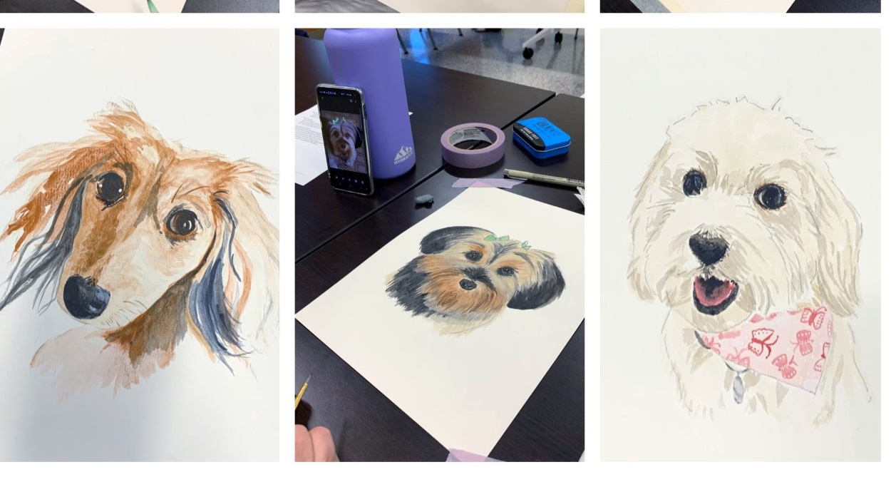 Art  Watercolor Pet Portraits