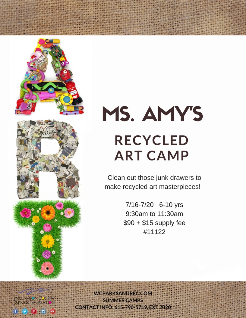 summer ms amy recycled art