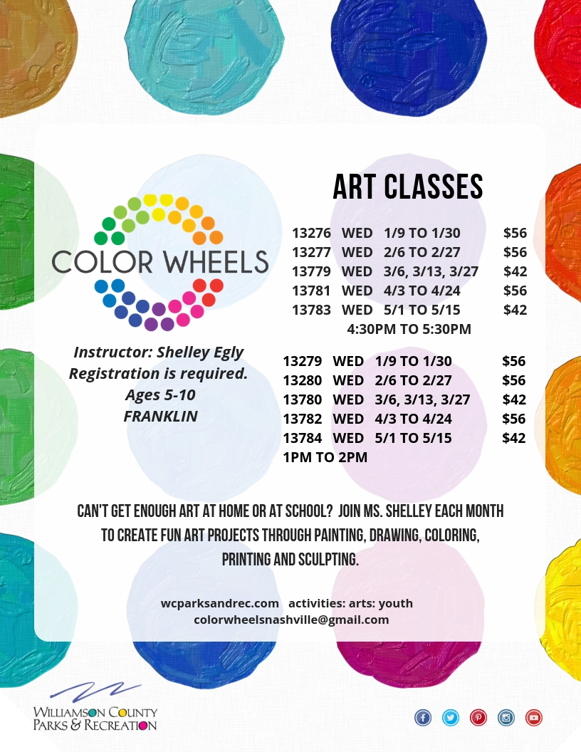 Youth Art Classes Williamson County Parks And Recreation